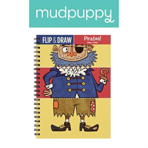 Fotografia, na której jest Mudpuppy Zeszyt do rysowania potrójny Piraci