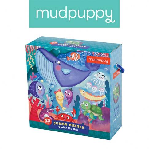 Fotografia, na której jest Mudpuppy Puzzle podłogowe Jumbo Podwodny Świat 25 elementów 2+