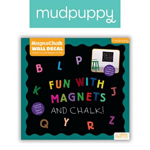 Fotografia, na której jest Mudpuppy Naklejka magnetyczna - tablica kredowa ABC