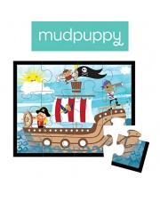 Mudpuppy Puzzle w saszetce Piraci 12 elementów 2+