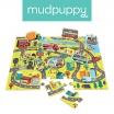 Fotografia, na której jest Mudpuppy Puzzle zestaw z 8 figurkami W mieście 3+