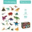 Fotografia, na której jest Mudpuppy Zestaw magnesów Dinozaury 20 elementów