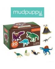 Mudpuppy Zestaw magnesów Dinozaury 20 elementów