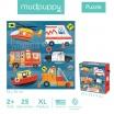 Fotografia, na której jest Mudpuppy Puzzle podłogowe Jumbo Na ratunek! 25 elementów 2+