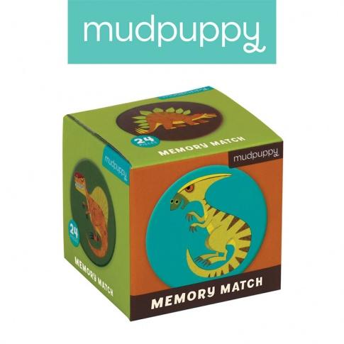 Fotografia, na której jest Mudpuppy Gra Mini Memory Dinozaury