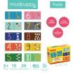 Fotografia, na której jest Mudpuppy Puzzle do nauki liczenia od 1 do 10 wiek 2+