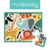 Fotografia, na której jest Mudpuppy Puzzle w saszetce Dzikie Zwierzęta 12 elementów 2+