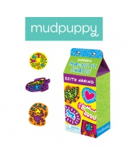Mudpuppy Zestaw drewnianych magnesów Keith Haring 35 elementów