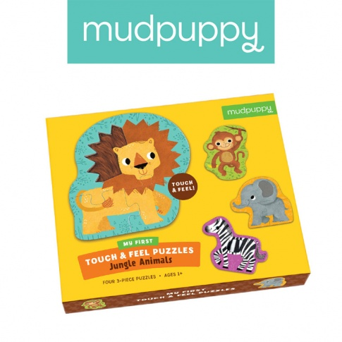 Fotografia, na której jest Mudpuppy Puzzle sensoryczne Zwierzęta Dżungli 1+