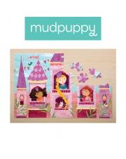 Mudpuppy Puzzle z brokatem Księżniczka 100 elementów 5+