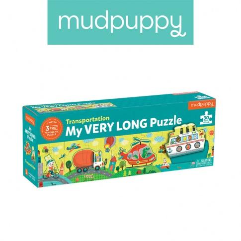 Fotografia, na której jest Mudpuppy Metrowe puzzle Transport 30 elementów 3+