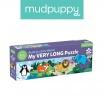 Fotografia, na której jest Mudpuppy Metrowe puzzle Zwierzęta Świata 30 elementów 3+