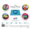 Fotografia, na której jest EZPZ Silikonowa miseczka z podkładką 2w1 Happy Bowl szara