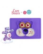 EZPZ Silikonowy talerzyk z podkładką 2w1 Care Bears™ Mat Miśka Share Bear fioletowy