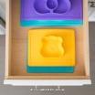 Fotografia, na której jest EZPZ Silikonowa miseczka z podkładką 2w1 Care Bears™ Bowl Misia Słoneczne Serce Funshine Bear żółta