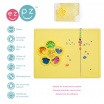 Fotografia, na której jest EZPZ Silikonowa mata do zabawy z pojemniczkami 2w1 Flower Play Mat żółta