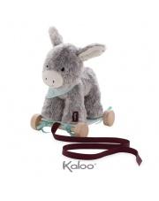 Kaloo Osiołek Popielaty przytulanka 27 cm na wózeczku do ciągnięcia kolekcja Les Amis