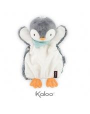 Kaloo Pingwin Szary pierwsza przytulanka pacynka 30 cm kolekcja Les Amis