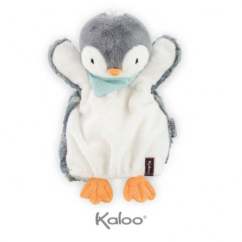 Fotografia, na której jest Kaloo Pingwin Szary pierwsza przytulanka pacynka 30 cm kolekcja Les Amis
