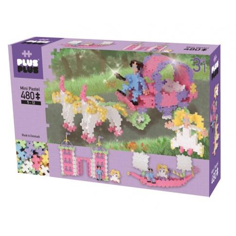 Fotografia, na której jest Klocki Plus-Plus, Mini Pastel - 480 szt. 3w1 Księżniczka i kareta