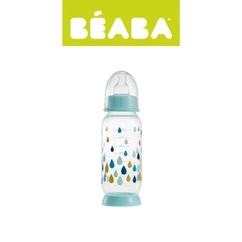 Fotografia, na której jest Beaba Butelka antykolkowa 240 ml Rainbow blue
