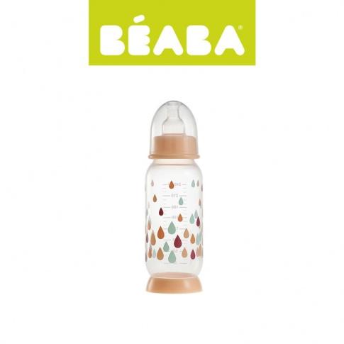 Fotografia, na której jest Beaba Butelka antykolkowa 240 ml Rainbow nude
