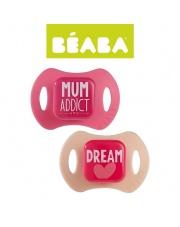 Beaba Zestaw ortodontycznych smoczków 2 szt. 0-6m pink