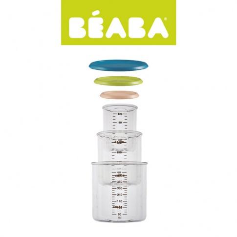 Fotografia, na której jest Beaba Zestaw słoiczków 3 szt. 120 ml, 240 ml oraz 420 ml