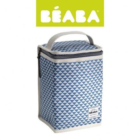 Fotografia, na której jest Beaba Opakowanie termoizolacyjne duże Play Print blue