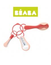 Beaba Akcesoria do pielęgnacji: termometr do kąpieli, obcinaczka, szczoteczka i grzebień nude/coral