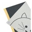 Fotografia, na której jest LASSIG Muślinowy Kocyk z bawełny organicznej 75x100cm Little Chums Kot