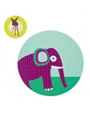 LASSIG Podkładka silikonowa do posiłku Wildlife Słoń
