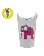 LASSIG Kosz na zabawki lub pranie Wildlife Słoń