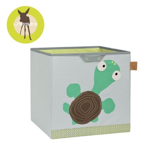 Fotografia, na której jest LASSIG Pudełko na zabawki Wildlife Żółw