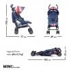 Fotografia, na której jest MINI by EASYWALKER Wózek spacerowy z osłonką przeciwdeszczową 6,5kg Union Jack Vintage