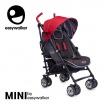 Fotografia, na której jest MINI by EASYWALKER Wózek spacerowy z osłonką przeciwdeszczową 6,5kg Union Red (special edition)