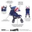 Fotografia, na której jest MINI by EASYWALKER Wózek spacerowy z osłonką przeciwdeszczową  XL Union Jack Classic