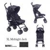Fotografia, na której jest MINI by EASYWALKER Wózek spacerowy z osłonką przeciwdeszczową  XL Midnight Jack