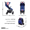 Fotografia, na której jest MINI by EASYWALKER Buggy XS Wózek spacerowy z osłonką przeciwdeszczową Union Jack Classic
