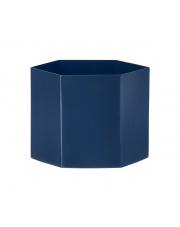 Doniczka metalowa niebieska HEXAGON - ferm LIVING