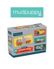 Mudpuppy Dwuczęściowe puzzle Środki transportu 10 par 2+