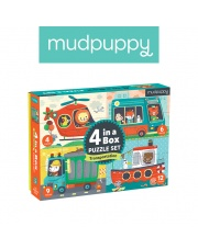Mudpuppy Puzzle 4 w 1 Pojazdy 4, 6, 9 i 12 elementów 2+