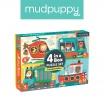 Fotografia, na której jest Mudpuppy Puzzle 4 w 1 Pojazdy 4, 6, 9 i 12 elementów 2+