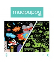 Mudpuppy Puzzle świecące w ciemności Superbohaterowie 100 elementów 5+