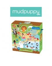 Mudpuppy Puzzle podłogowe Jumbo W ZOO 25 elementów 2+