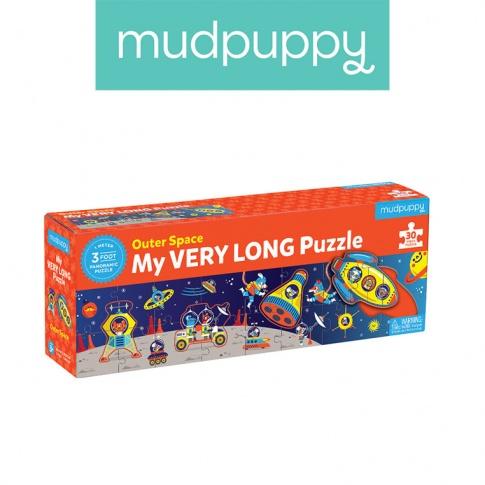 Fotografia, na której jest Mudpuppy Metrowe puzzle Kosmos 30 elementów 3+