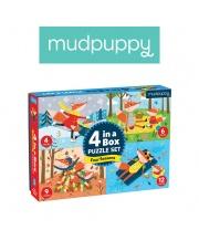 Mudpuppy Puzzle 4 w 1 Pory roku 4, 6, 9 i 12 elementów 2+