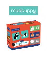 Mudpuppy Dwuczęściowe puzzle Zwierzęta i ich dzieci 10 par 2+