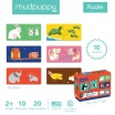 Fotografia, na której jest Mudpuppy Dwuczęściowe puzzle Zwierzęta i ich dzieci 10 par 2+