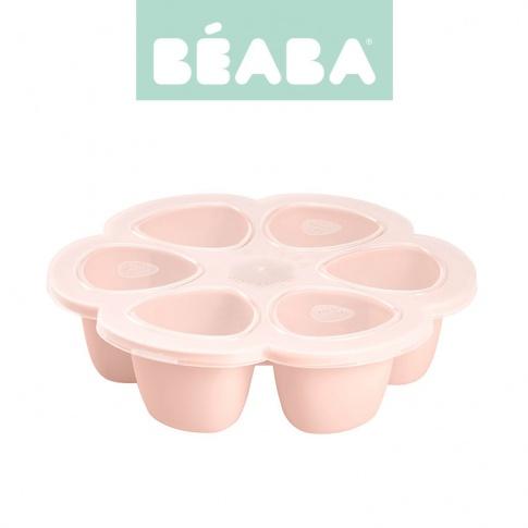 Fotografia, na której jest Beaba Silikonowy pojemnik do mrożenia 6 x 90 ml  pink